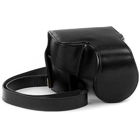 Megagear Ever Ready Schwarz Leder Kamera Tasche Für Kamera