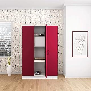 GODREJ INTERIO Slimline Steel Wardrobe Textured Carmine Red,3 Door