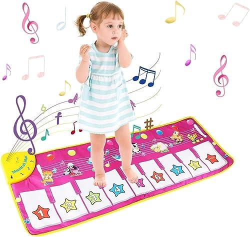 NEWSTYLE Tapis de Musique, Tapis Musical Bébé, Tapis de Jeu Musical, Tapis de Jeu Piano Enfants, Tapis de Danse Con A...