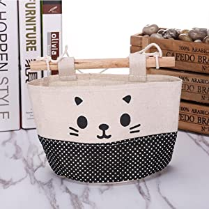 Kingko  Fashion New Cute Cat Pattern Hanging Storage Bag Cartoon Wall Debris Combination Pouch  A