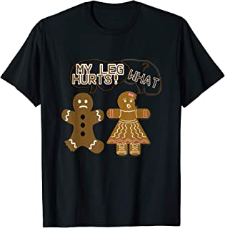 Christmas Gift Gingerbread Ugly Sweater Style Joke Funny T-Shirt