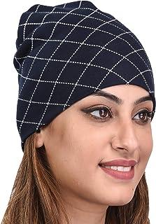 SHAUN Women's Cotton Lycra Skull Cap (Multicolor_Free Size) (Pack of 1)