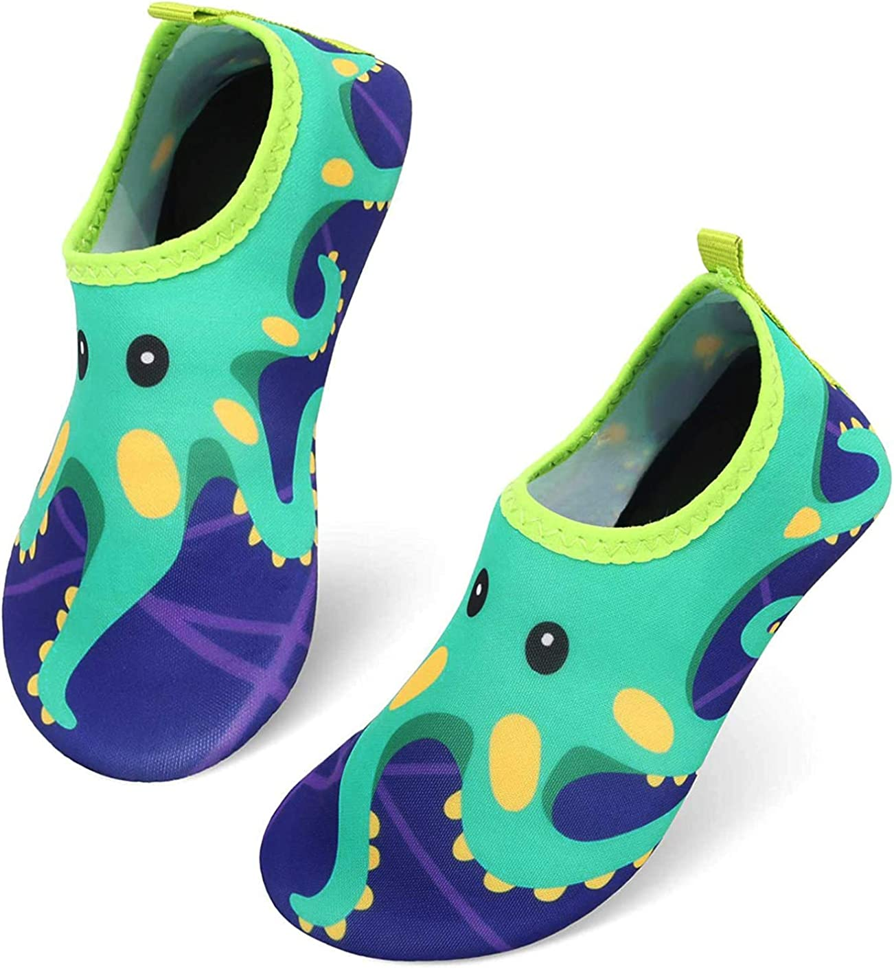 PIZOFF Toddler Kids Water Shoes Non-Slip Quick Dry Water Skin Barefoot Aqua Socks for Beach Swim Walking