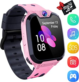 Smart Watch for Kids, Kids Smartwatch Music Player 1.54 inch HD Touchscreen, HD Camera SOS Anti-Lost, Android Phone Wristband Games Watches Digital Wrist Watch for Boy Girl[1GB SD Card Included]