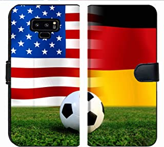 MSD Premium Phone Case Designed for Galaxy Note 9 Flip Fabric Wallet Case Image ID: 26544143 Soccer World Cup 2014 Football United States of America and Germ