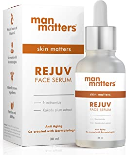 Man Matters Glowing Face Serum for Men   Radiant Skin, Fights Acne, Acne Scars, Aging & Dark Spots   10% Niacinamide & 2% ...
