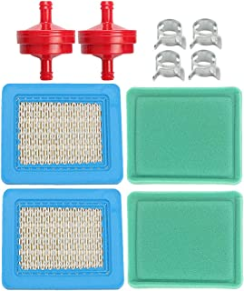 (Pack of 2) 491588S 491588 Air Filter + 493537S 493537 Pre-Cleaner for Briggs & Stratton Engines w/Fuel Filter