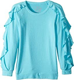 Extra Soft Love Knit Ruffled Sleeve Pullover Sweater (Little Kids/Big Kids)