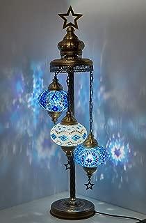 Turkish Moroccan Mosaic Glass Handmade Tiffany Floor Lamp Light