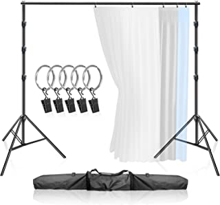 LimoStudio Premium, 9 feet 10.5 inch Wide x 9.3 feet Tall, Curtain Style Background Support System, Sturdy Backdrop Stand ...