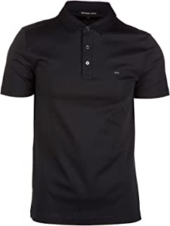 Michael Kors Sleek Liquid Mk Short Sleeved Polo Small BLACK ...