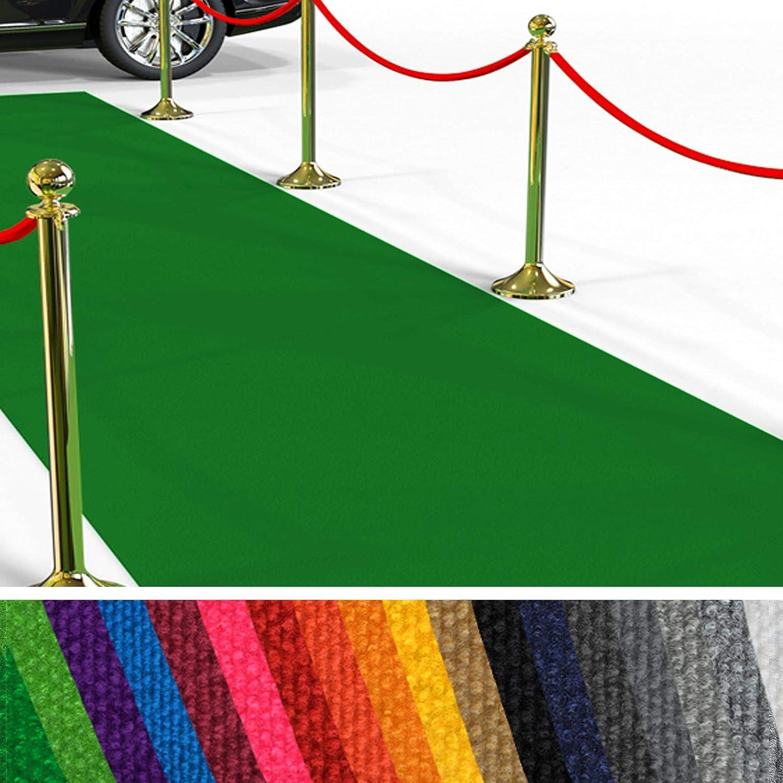 Etm Hochwertiger Messeteppich Meterware  Rollteppich VIP Eventteppich, Hollywood Lufer, Hochzeitsteppich  18 Farben in 23 Gren  Grün - 200x1000 cm