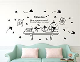 Amazon Brand - Solimo Wall Sticker for Living Room (Wall Shelf , ideal size on wall , 175 cm X 150 cm)