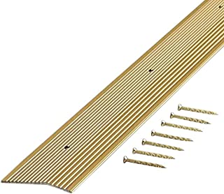 M-D Building Products 79004 Fluted - 7/8-Inch by 36-Inch Carpet Trim, Satin Brass