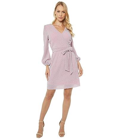 Sam Edelman Lurex Knit Faux Wrap Dress (Blush) Women