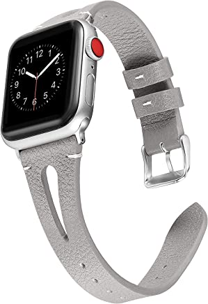 Secbolt Leather Bands Compatible with Apple Watch, 38mm...