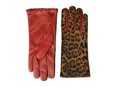 Polo Ralph Lauren Leopard Gloves (Leopard/Ralph Red) Over-Mits Gloves