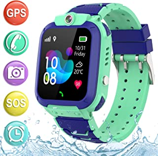 "Kids Smartwatch GPS Tracker Phone - 2019 New Waterproof Children Smart Watches with 1.4"" Touch Screen SOS Phone Call Talki..."