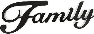 Family Black Metal Wall Word