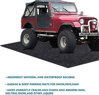 Parking Garage and Shop Floor Mats Under Cars,Wide Vehicle (Garage Floor Mat:9.55feet x 18feet)