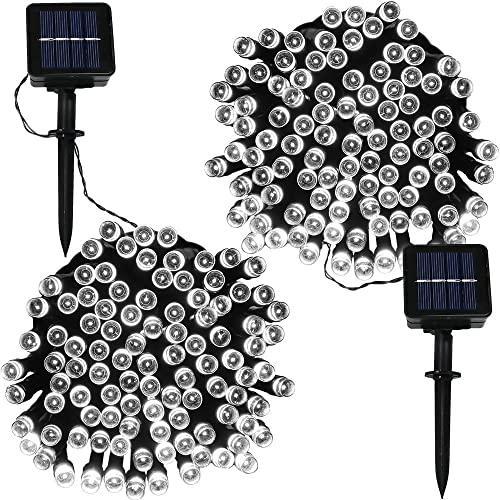 2021 Sunnydaze Set of 2, 100-Count, 34 Foot Fairy Solar Powered LED online String online sale Lights, White online sale