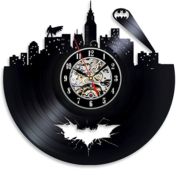 Batman Arkham City Logo Best Wall Clock Decorate Your Home With Modern Large Superhero Art Gift For Friend Man And Boy