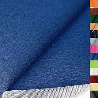 hochwertiges Kunstleder in Blau - als Polster-Stoff/Sitzbezug für den Innenbereich - anschmiegsam abriebfest pflegeleicht