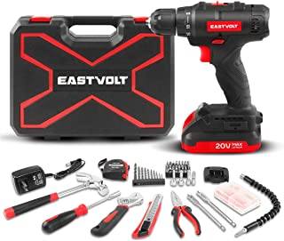 Eastvolt 20V Max Cordless Power Drill Driver Kit & Home Tool Kit, Max 310in.lbs. 18+1 PoisitionTorque Drill For Metal, Woo...