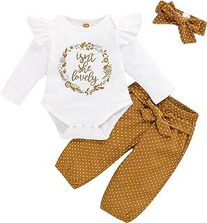 TMEOG Hiver Ensembles bébé Fille, Fille Enfant Sweat-Shirts à Capuche Haut Longues Manches+Pantalons