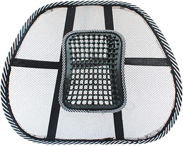 Chair Massage Back Lumbar Support Mesh Ventilate Cushion Pad Car Office Seat Great Relax Massage Support For Seat In The Car Office Or Home