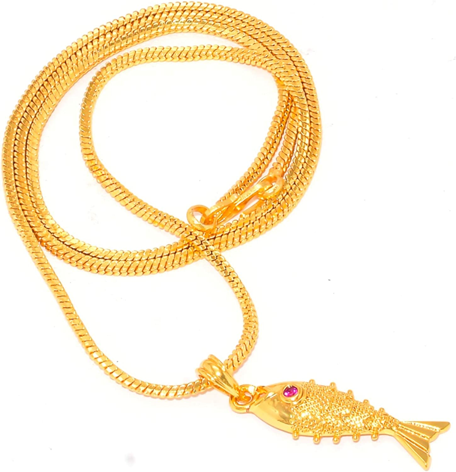 Jewar Pendant Set One Gram Gold Plated 24 inch size Simple Look Handmade Necklace Jewelry For Women & Girls