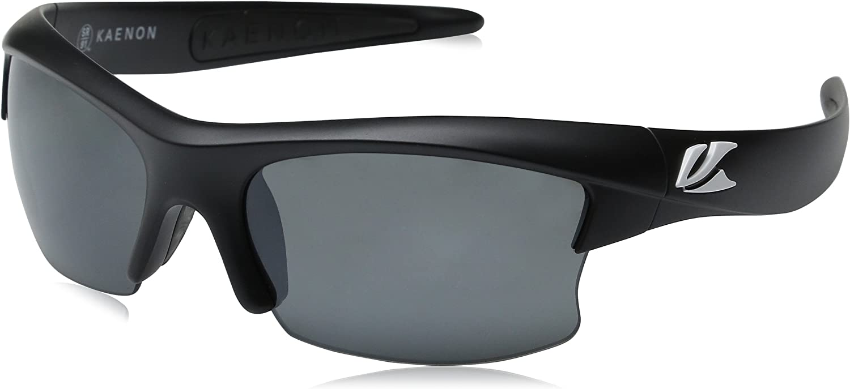 Kaenon Men's SKore Polarized Shield Sunglasses, Matte Black & White Logo