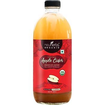 Neuherbs Certified Organic Apple Cider Vinegar With Mother (500 ML- Glass Bottle)
