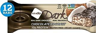 NuGo Dark Chocolate Coconut, 12g Vegan Protein, 200 Calories, Gluten Free, 12 Count