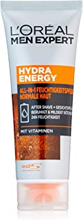 L'Oréal Men Expert Hydra Energy All-In-One Moisturiser for Sensitive Men's Skin Absorbs Quickly and Without Residue (75 ml)