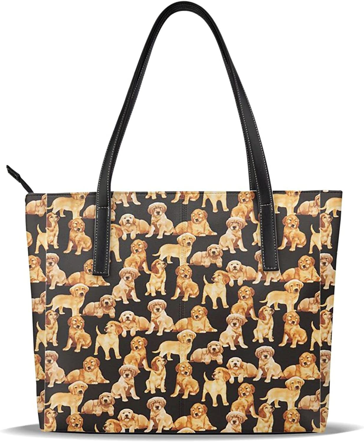 FSERSANHW Puppy Dog Fashion Practical Large Tote Excellence Leather Bags Fo Tampa Mall