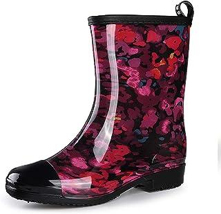 gracosy Bottes & Bottines de Pluie Femme Fille, Boots en Caouthchouc Imprimées Bottes Cheslea Chaussure de Ville Imperméab...
