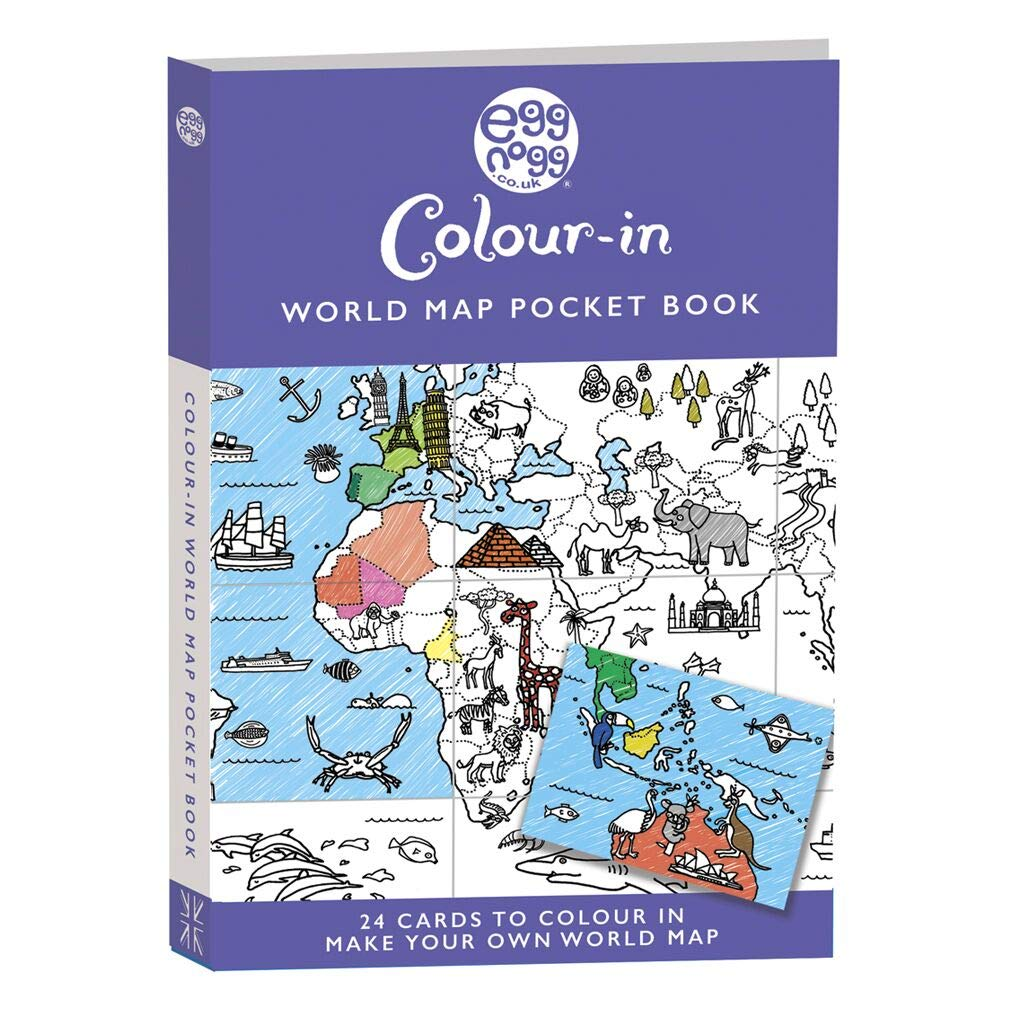 Colour In Eggnogg Postcard Pocket Book Pop Up House Dino Fairies