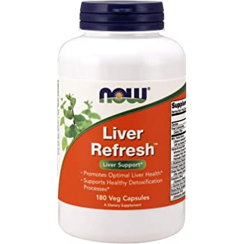 NOW Supplements, Liver Refresh with Milk Thistle Extract and unique Herb-Enzyme blend, 180 Veg Capsules