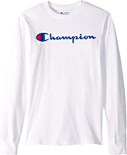 1c7ff5240ea3 White. 1. Champion. Classic Jersey Graphic Long Sleeve Tee