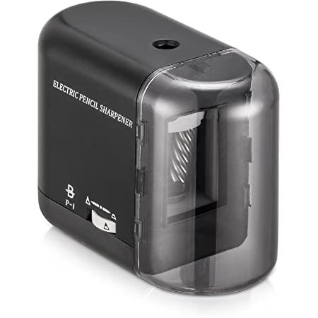 BOOCOSA Pencil Sharpener, BEST Heavy Duty Steel Blade, Electric Pencils Sharpener with Auto Stop for School Classroom Office Home – Precise Perfect Point Every time for Artists Kids Adults (0.8)