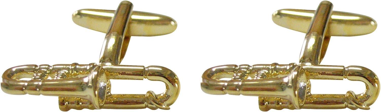 Kiola Designs Gold Toned Trombone Cufflinks