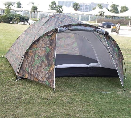 Des tentes de Camouflage à Double Couche construisent hommeuellement des abris de Camping en Plein air pour tentes à Une ou à Une Chambre (80 + 240) x 210 x 145Cm