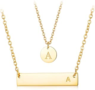 three letter initial necklace