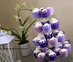 All About Details Purple Ombre Sweet 16 Cupcake Wrappers Kit, 32pcs