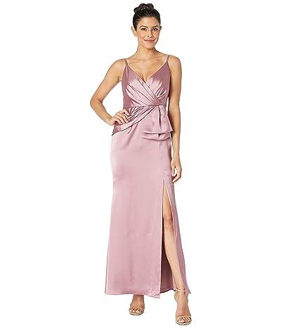 Adrianna Papell Petite Light Satin Dress (Rose) Women