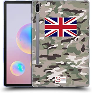 Official Support British Soldiers Multi Terrain Camo Soft Gel Case Compatible for Samsung Galaxy Tab S6 (2019)