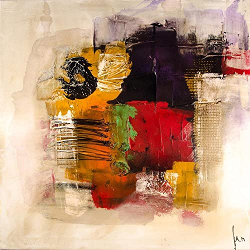 Pitaara Box Modern Abstract Art D6 Canvas Painting MDF Frame 24 X 24Inch