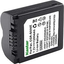 Kastar Digital Camera Battery CGR-S006 Replacement for Panasonic CGA-S006 and Panasonic Lumix DMC-FZ28 DMC-FZ18 DMC-FZ30 DMC-FZ35 DMC-FZ38 DMC-FZ50 DMC-FZ7 DMC-FZ8 Cameras
