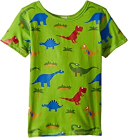 4Ward Clothing - PBS KIDS® - Dino Pattern Reversible Tee (Toddler/Little Kids)